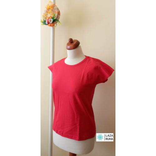 Egyszínű női rövid ujjú póló